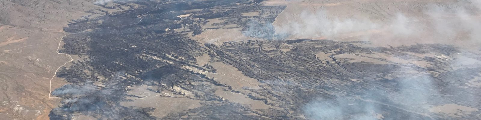 Aerial photo of Shelter Pass Fire