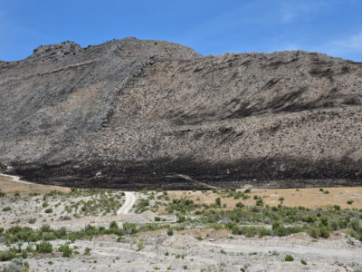 Image of a burnt mountainside.