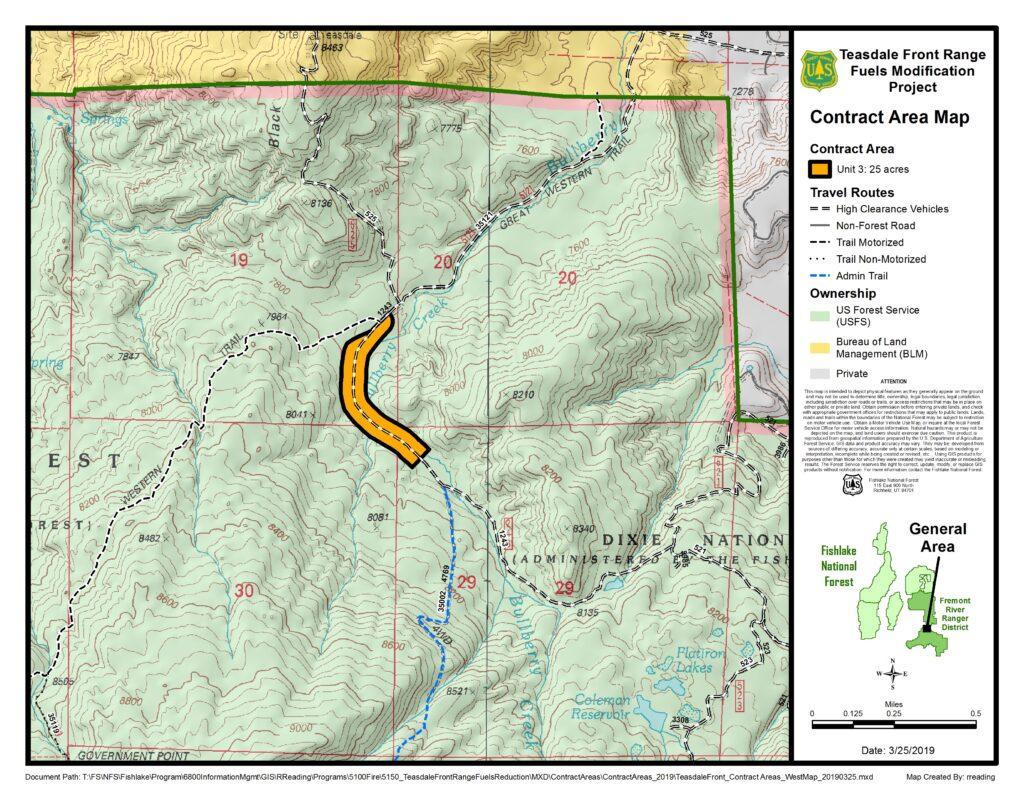 Teasdale Front Map of Unit 3